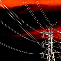 3887 Lines of Power (tengtan (away awhile)) Tags: red black postprocessed square geometry powerlines negative electricity colournegative 500x500 artisticexpression favemegroup3 auselite tengtan awardtree uniquechallenge atqueartificia gardenofzenask 40ask