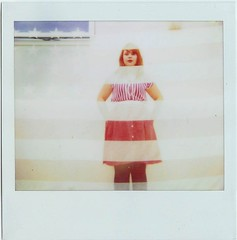 4th (emmily shaw) Tags: blue light red white hot film me girl stars polaroid exposure stripes flag 4th july double spectra polairoid