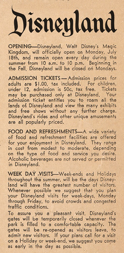 Happy Birthday Disneyland - 53 Years Ago Today....