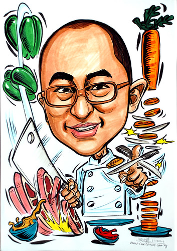 Caricature of a chef