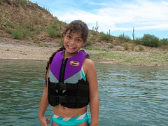 fun at the lake (Feebert) Tags: girls friends boys water kids speed happy stingray daughter az summerfun tow lakepleasant funwithfriends