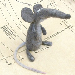 Skip, the Ship Rat (fingtoys) Tags: wool felted toy rat handmade waldorf felt hamster fing raty fingtoys feltarttoy