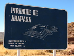 Piramide de Akapana sign (Sparky the Neon Cat) Tags: world heritage southamerica sign america de la pyramid south paz bolivia unesco lapaz precolumbian piramide tiwanaku tiahuanaco tiahuanacu akapana