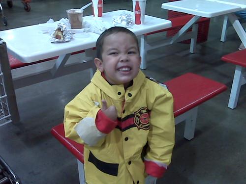Firetruck raincoat