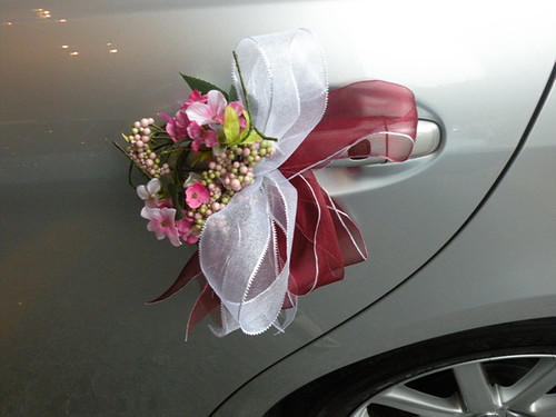 wedding aisle car decorations