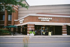 Starbucks Coffee at the Edens Plaza. Wilmette Illinois. July 2008.