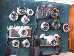 The Leica and Contax rangefinder/SLR collection (jiulong) Tags: leica zeiss lens rangefinder contax summicron ikon elmar r3 lenses iiia 502 sonnar summaron screwmount lsm summar elmarit leitz 3528 barnack iia 5028 2828 5035 summitar 3535 elmaritr summicronr