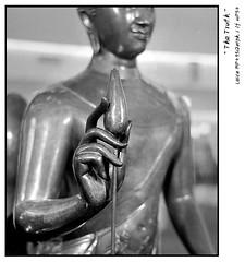 """The simple truth about """" LOTUS """" (Black Theory) Tags: leica bw sculpture stilllife black thailand lotus buddha diamond hp5 mp ilford leicamp 352asph blackwhiteaward summicron352asph d76111130min"""