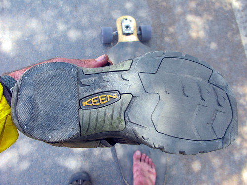 The sole repair job on the Keen Sandals near Huini, Gansu Province, China