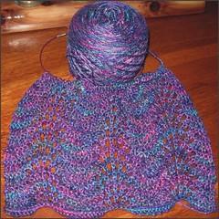 Silk Waves Scarf, in progress