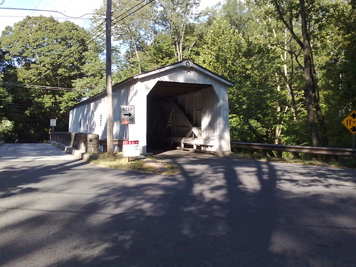 Covered bridge on JerseyMan Tri course