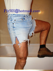 Pit501-105 (pit501) Tags: gay ass faded tight levis bulge 501 cutoffs pit501