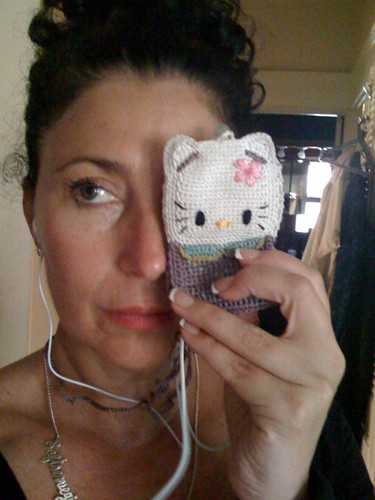 my HELLO KITTY iPhone Case (that is worn hanging around my neck!