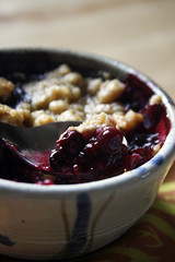 blueberry peach crisp (the boastful baker) Tags: food cooking dessert baking treats peach blueberry crisp sweets peaches blueberries cobbler bakedgoods fruitcrisp alicewaters localfruit fruitcobbler artofsimplefood