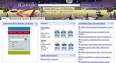 iGoogle page showing Catalogue Search gadget