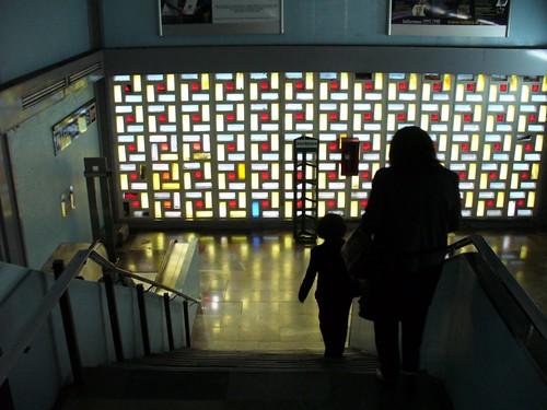 Mosaicos y escalera