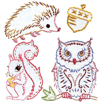 Forest Friends embroidery kit