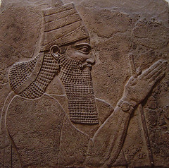 Tilglath-Pileser III (Vivek 181088) Tags: sculpture stone king iraq east relief engraving warrior middle ruler mesopotamia assyria tilglath pileser