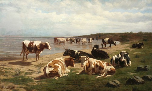 """Cows at the Water's Edge"""