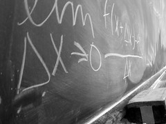 There's No Grey In Mathematics (gonisj) Tags: eraser calculus chalkboard zero limits deltax