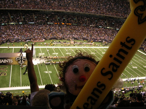 Watching the Saints take the field