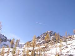 Plane crossing above Black Mtn.