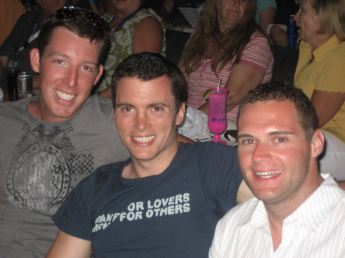 Matt, Josh and Dave at a show on Carnival Ecstasy