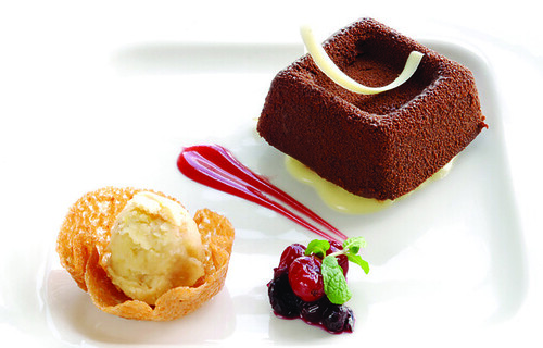 chocolate truffle with lemon curd