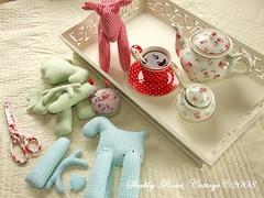 Reindeer (*ShabbyRosesCottage*) Tags: blue red white aqua gingham ti