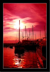 ~~ Pink Sunsets ~~ (canmom ( Carrie )) Tags: sunset sky sun holiday history clouds marina reflections turkey boats landscapes trkiye antalya ripples cubism kaleii canonefs1855mmf3556 abigfave platinumphoto colorphotoaward impressedbeauty theunforgettablepictures theperfectphotographer goldstaraward flickrlovers boatislandpoetry canvasprintsforless