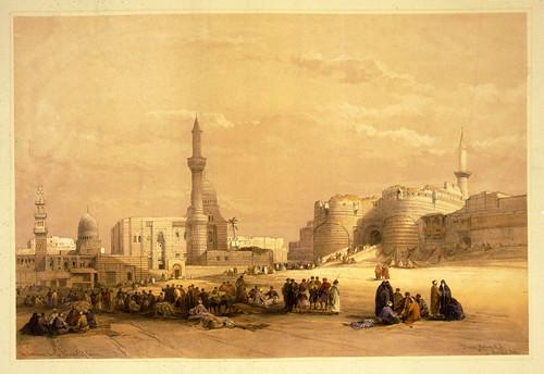 010- Entrada a la ciudad del Cairo- David Roberts- 1846-1849