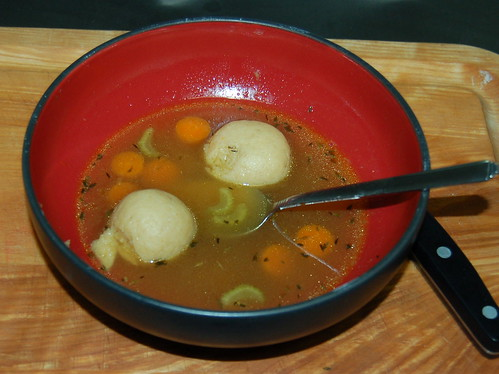 Home-made Matzoh Ball Soup