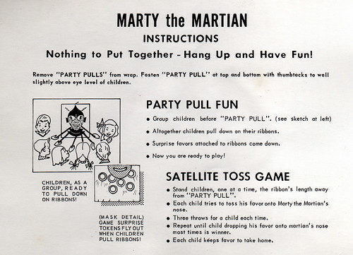 Halloween Marty the Martian Instructions, 1962