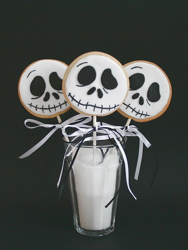 Jack Skellington cookie lollies