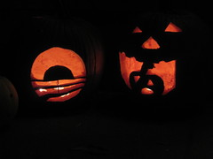 Obama ( yes we carve) and Pumpkin Eater Pumpkins