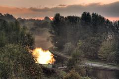 misty morning sunrise (Stephen McNally / chasmcn) Tags: sunrise canon landscape hdr merseyside sankeyvalley newtonlewillows 450d