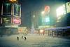 Ode to LG (sign) (tomms) Tags: winter snow toronto storm night square lights downtown neon muchmusic lg amc citytv tls theatres eatonscenter luckygoldstar lifesgood torontolifesquare lgsign dunassquare 10dundaseast