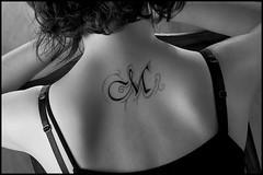 Tatoo tatuaggio (LeAli...) Tags: portrait people bw woman canon bn brunette ritrattidiof kubrickslook