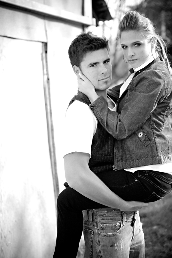 Brad and Lyndsey- sexy is as sexy does.  Just because shoot.