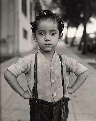 """Girl with Curlers, Los Angeles, 1949"" by Ida Wyman ©"