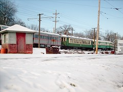 Wintertime at Fox river Trolley Museum. South Elgin Illinois. December 2007.
