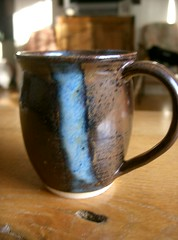 Brown and Blue Mug