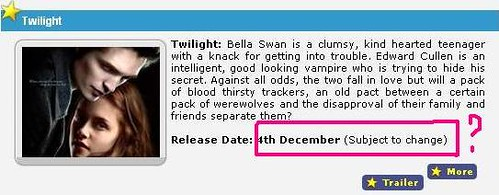 Twilight December 4 UAE Screening