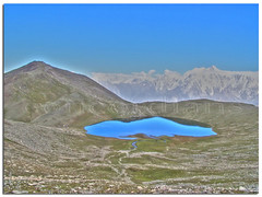"rush lake 4700 mtrs, from rushphari peak 5300 mtrs ""this is maximam hight i ever gain on my foot"" (TARIQ HAMEED SULEMANI) Tags: pakistan mountains nature trekking reflections hiking north lakes reflexions topoftheworld tariq nagar treks northernpakistan ladyfinger abigfave hunzapeak concordians sulemani worldwidelandscapes llovemypics rushpeak rushpharipeak maximamhight rusklake"