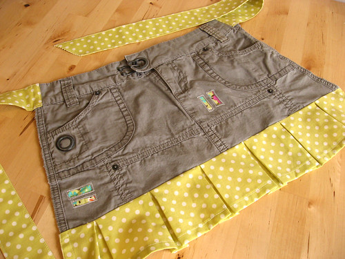 recycled skirt apron