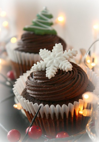 Snowflake Christmas Cupcakes