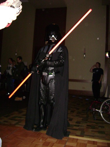 Darth Vader visits the dance