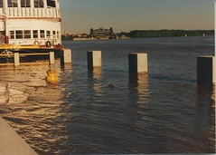 Flooding on the Ohio River. Louisville Kentucky. May 1990.