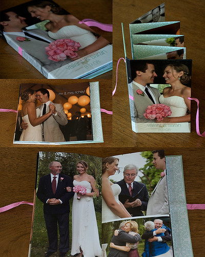 wedding photos - accordion book