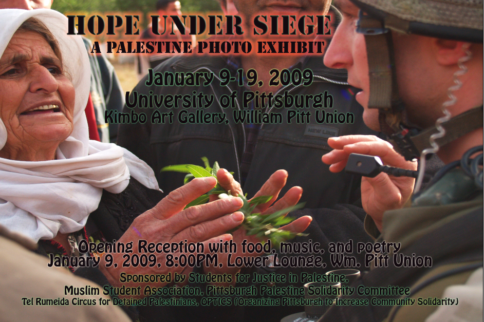 Hope Under Siege Photo Exhibit- Flyer